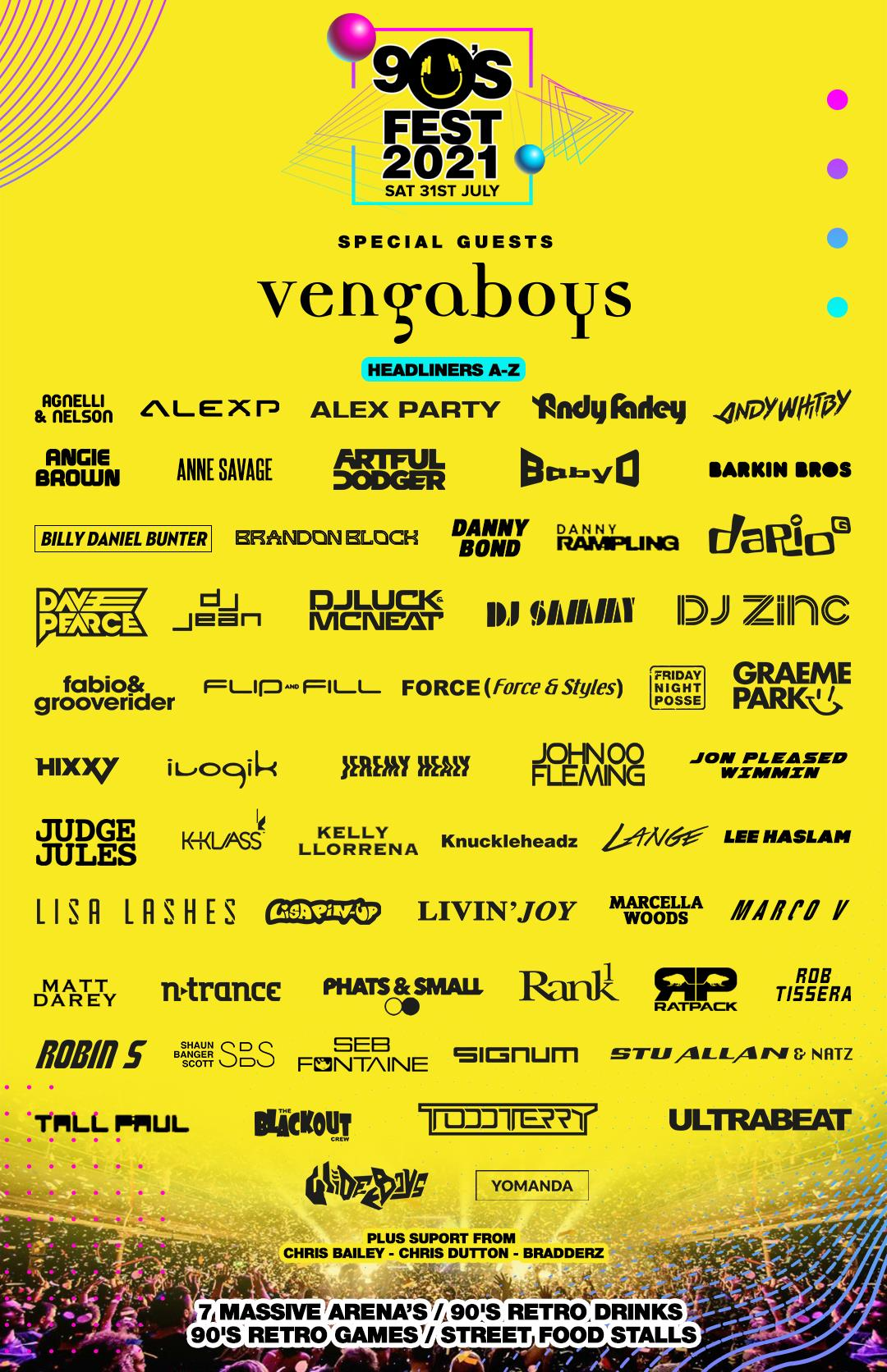 90's Fest 2021 Cashless Vouchers