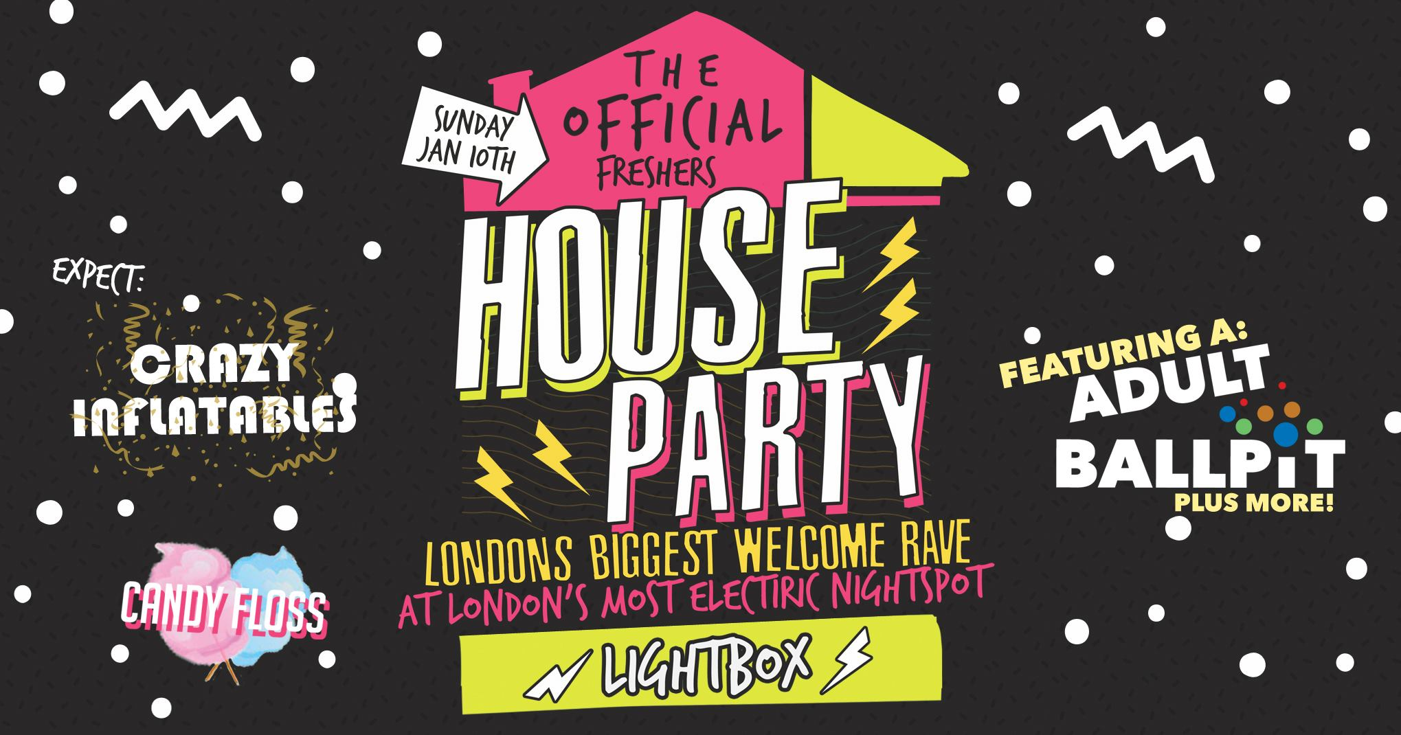 The Official London Freshers House Party - Sold Out Every Year!